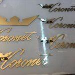 Coronet emblem i rostfritt stål